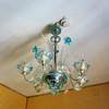 Venitian Glass Chandelier in Hotel Suite in Venice Italy
