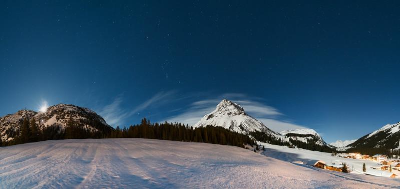 Mondaufgang in Lech