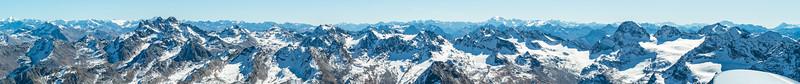 Silvretta Panorama vom Flugzeug