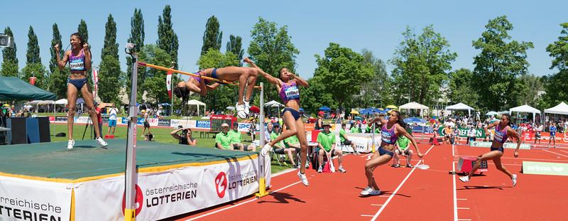 Nafi Thiam (Weltrekordhalterin und Olympiasiegerin im Zehnkampf) in Götzis