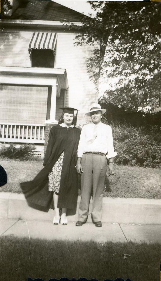 032 Eva and Paul Eva's Graduation Southwest Missouri State Teacher's College 1942
