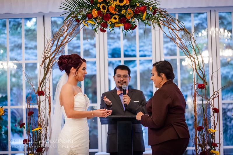 Vanessa & Natalie's Wedding - Lesbian Wedding - Chateau Busche - Chicago Wedding Photographer - Michelle Wodzinski Photography & Film - Fireheart-36-9712