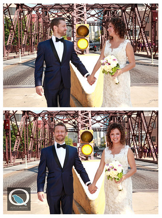 CARISSA + JASON Kinzie Street Bridge