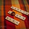 ALEXANDRA + GARETH<br /> Fun With Scrabble Letters