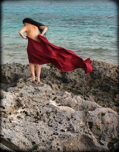 """Self-Portrait by the Sea, Staniel Cay, Bahamas"""