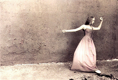 Erin in dance, hand-painted photograph
