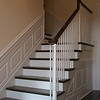 """36"""" high Raised Panel Wainscoting going up stairs"""