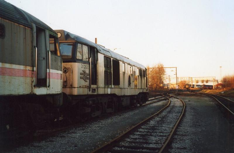 31200, Crewe South Yard. December 2001.