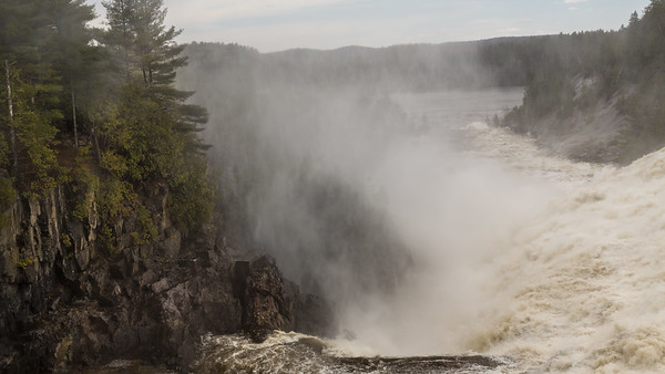 Spring Runoff at Dam at Low Quebec