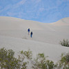 Walking at Death Valley Sand Dunes in California 2