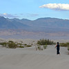 Walking at Death Valley Sand Dunes in California 3