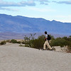 Walking at Sand Dues in Death Valley National Park in California