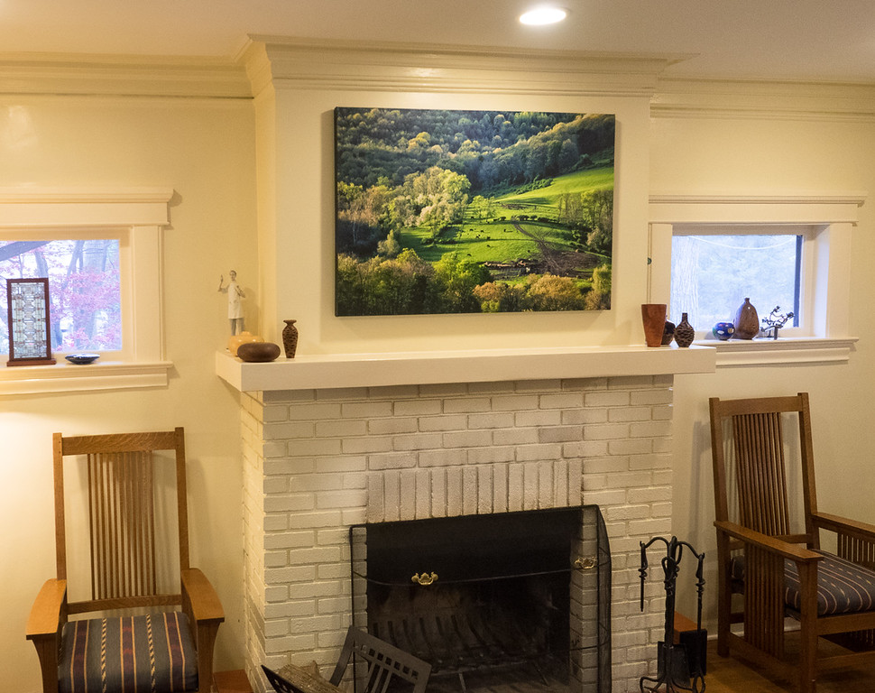 Custom-printed photo art brings serenity to the waiting room at Dr. Mark Docktor's office in Tenafly, NJ