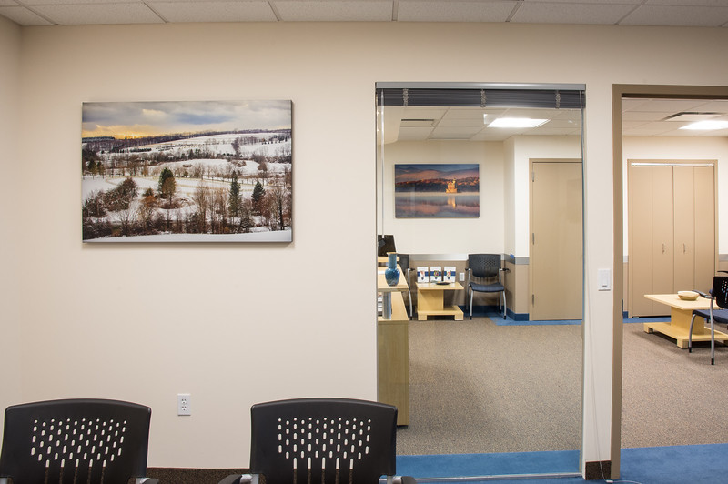 Custom-printed photo decor at Ettinger Law Firm, Lake Success, NY