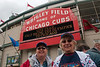 Julie & Mom (aka Rosemary) at the entrance to Wrigley Field before the game
