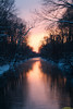 """Cold River Sunset"""
