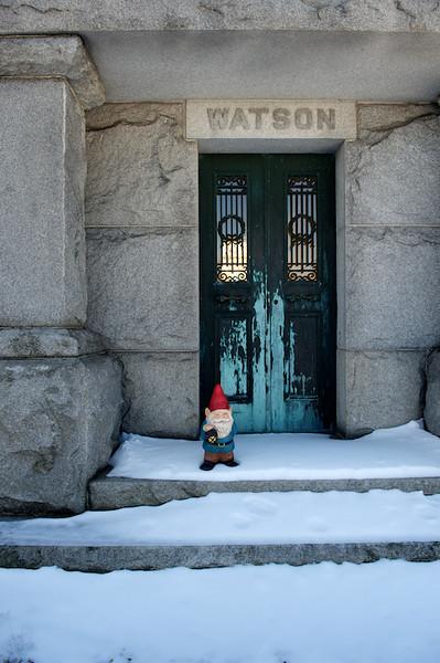 Gnome in Evergreen Cemetery 01/30/2014