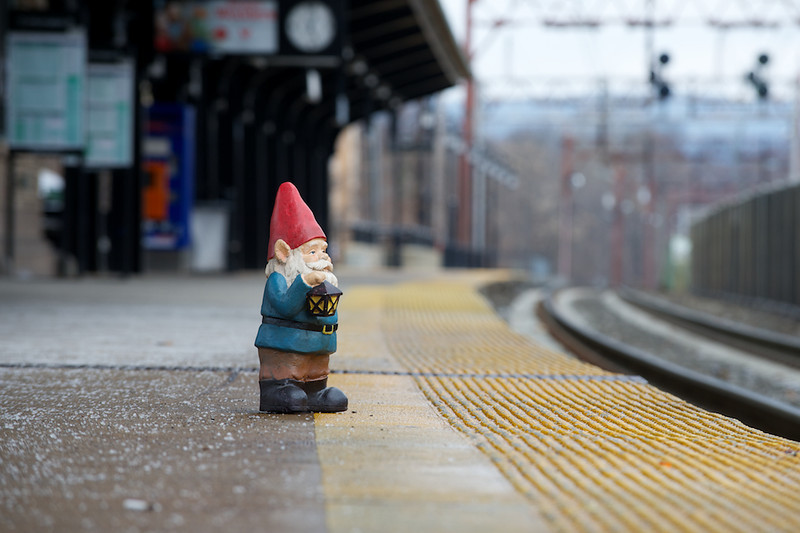 Waiting on the train to NYC