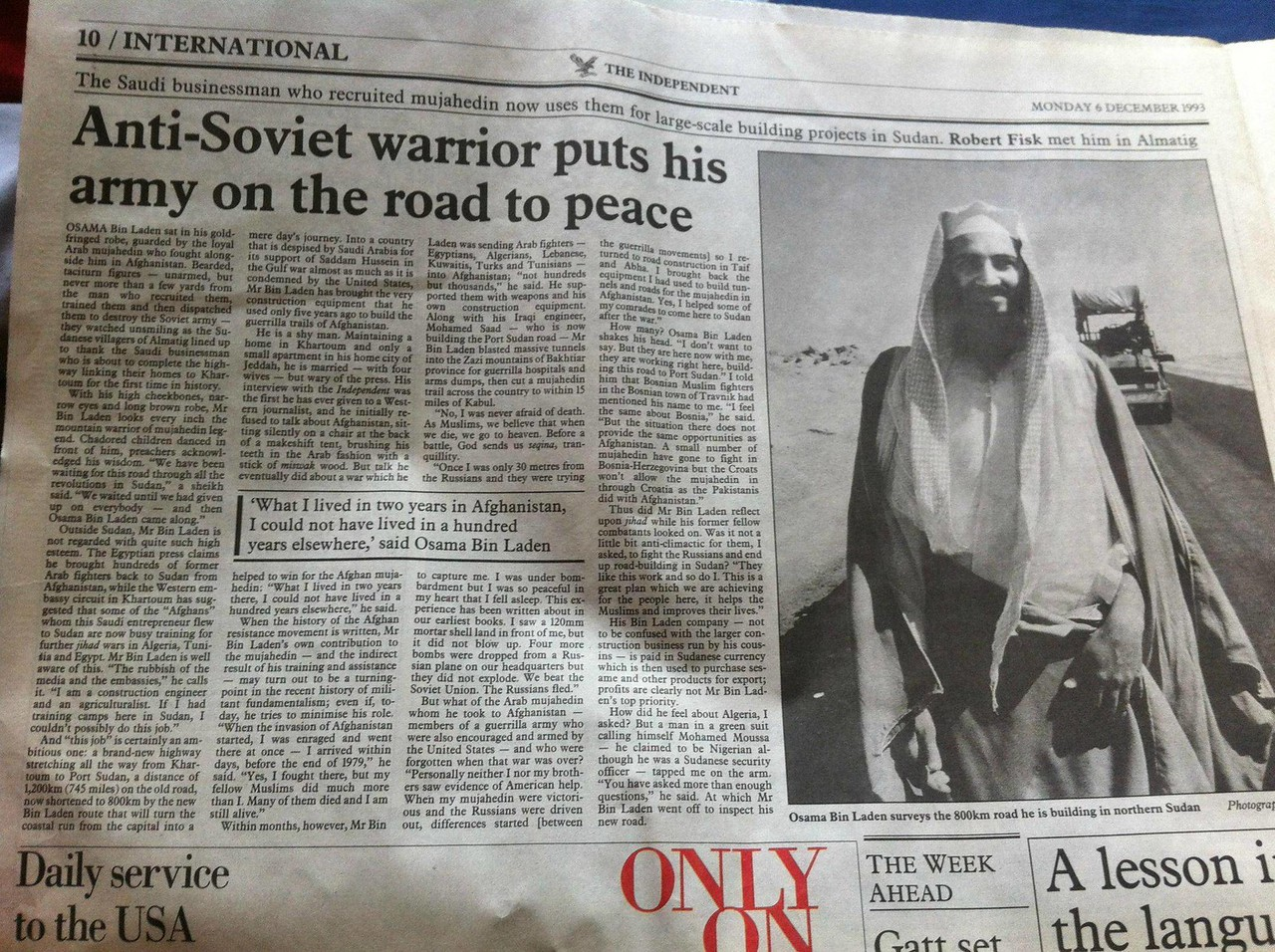 When Osama was 'Mr Bin Laden.'