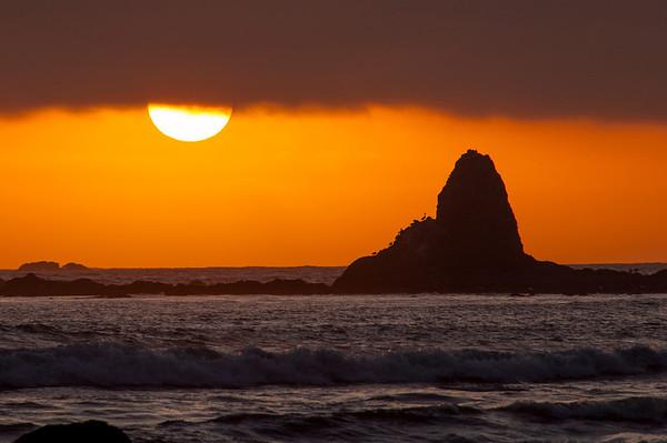 Oil City Beach Sunset Sea Stack 2