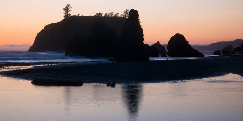 Ruby Beach Reflection