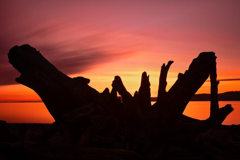 Long Exposure Mukilteo Beach at Sunset