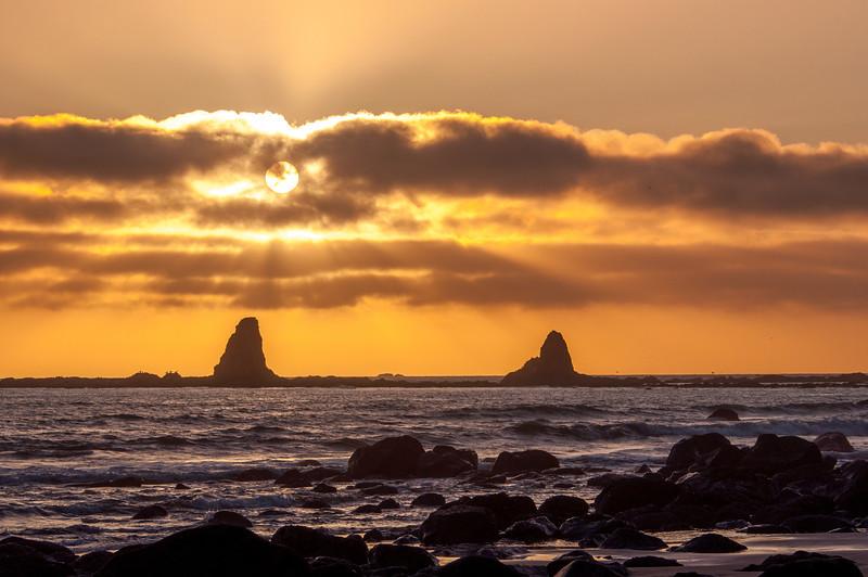 Oil City Beach Sunset