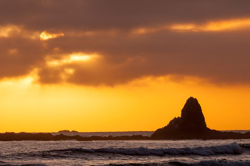 Oil City Beach Sunset Sea Stack 1