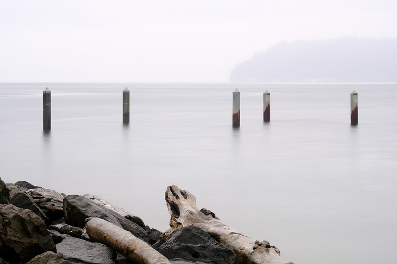 A Foggy Day at Mukilteo Beach