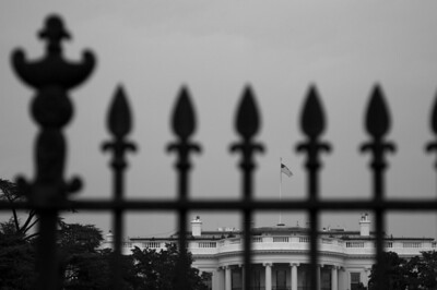 White House and fence