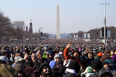 Crowd on National Mall, Inauguration Day – Washington, D.C.