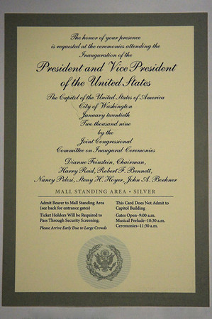 Inauguration ticket