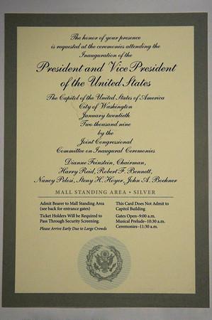 Inauguration ticket