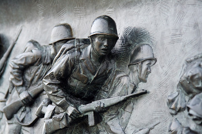 Soldier mural - National World War II Memorial