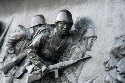 Soldier mural - National World War II Memorial
