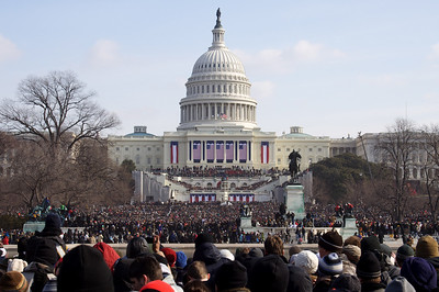 Across the crowd - Inauguration Day