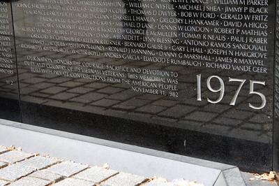 """""""1975"""" - Vietnam Veterans Memorial Wall"""
