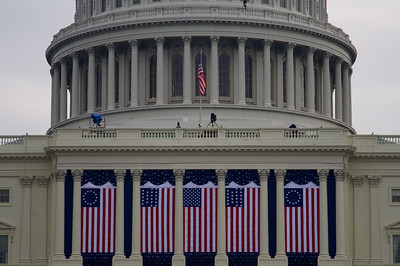 Flags on United States Capitol