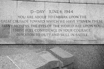 Gen. Eisenhower quote - National World War II Memorial