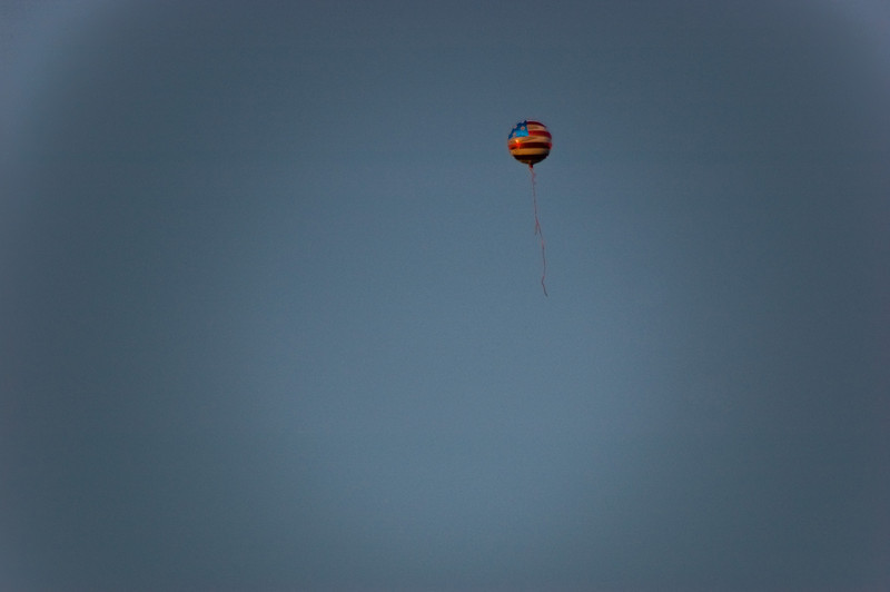 Title: I Regret that I have But One Balloon for My Country<br /> Date: 2010<br /> A run away balloon along the National Mall.
