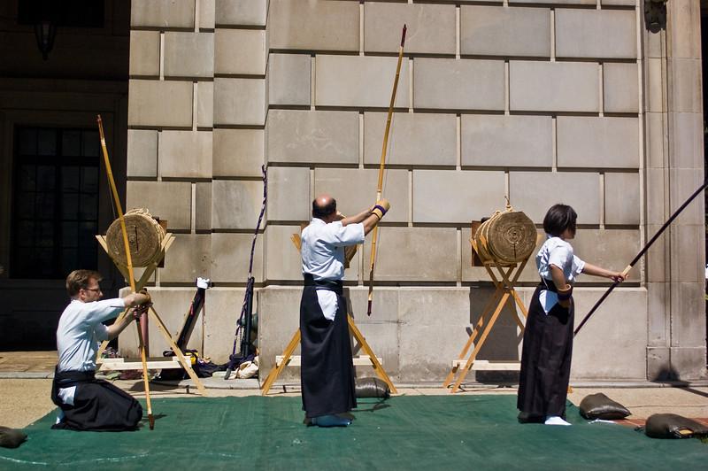 Title: Three Targets, Three Archers<br /> Date: April 2010