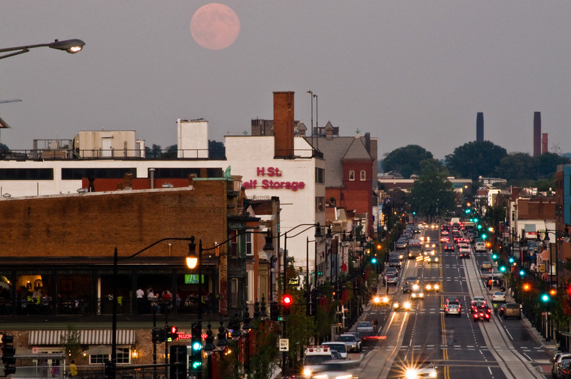 Title: Moon Over H Street<br /> Date: September 2011
