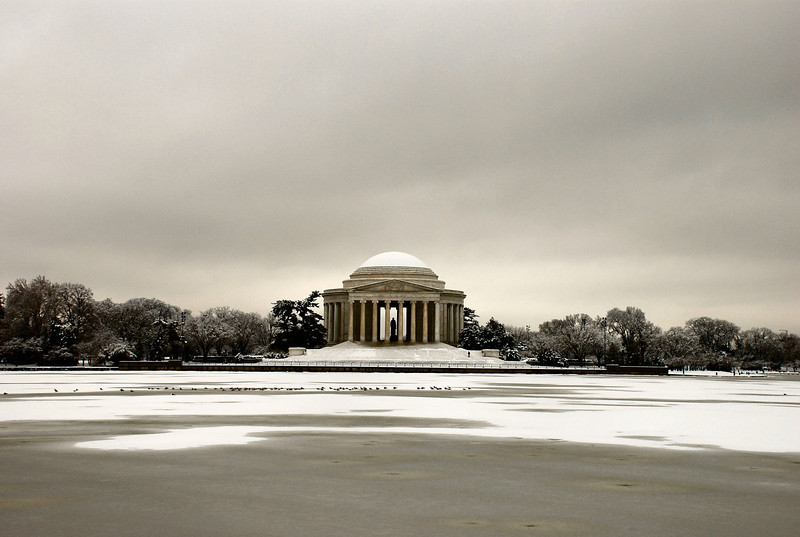Title: With an Iced Over Tidal Basin<br /> Date: February 2007