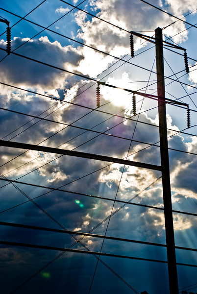 Title: Sunlight and Power Lines<br /> Date: June 2008