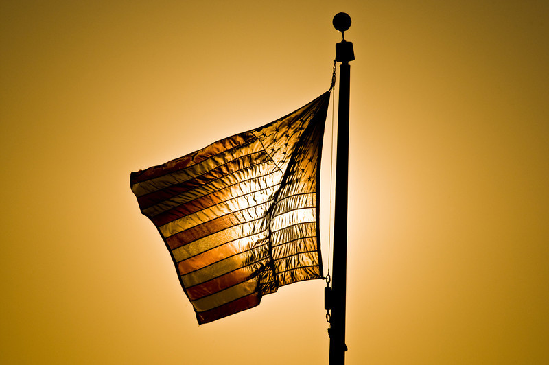 Title: Old Glory Aflame<br /> Date: September 2010