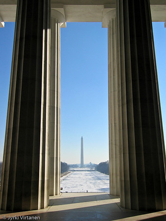 Washington Monument from Lincoln Memorial - Washington, DC, USA