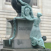 Daguerre Memorial Statue in Washington DC Near National Portrait Gallery