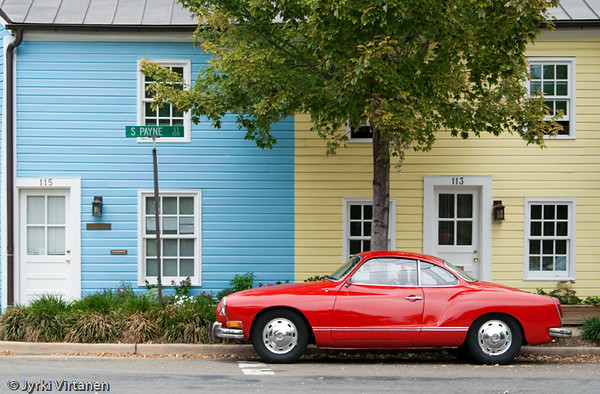 Blue, Yellow, Red - Old Town, Alexandria, VA, USA