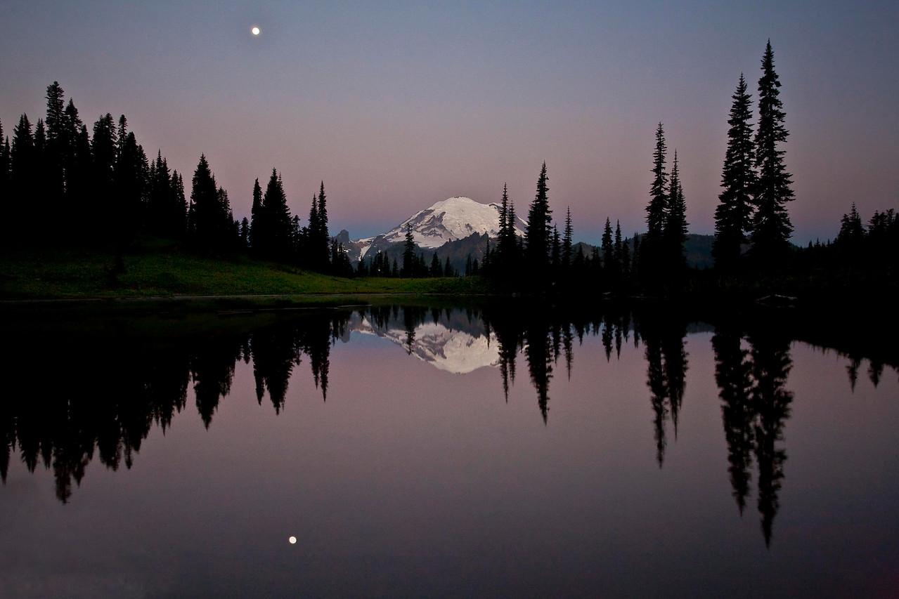 Moonlight sunrise