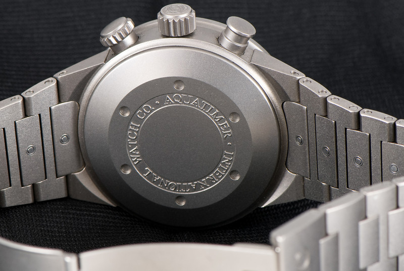 The caseback isn't terribly fancy, but it's titanium and comfortable, so I'm not complaining.
